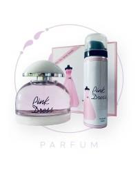 Парфюмерный набор PINK DRESS / ПИНК ДРЕСС (Розовое платье) с дезодорантом by Fragrance World, 100 ml