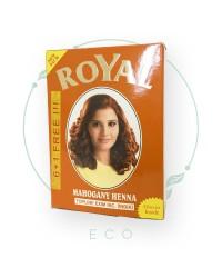 Натуральная индийская ХНА для волос Royal, махогани, рыжая, 7шт. по 10 гр.